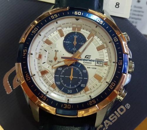 48b6793aa6d0 Reloj Casio Edifice Efr-539l-7c Correa Cuero - 100% Nuevo en venta ...
