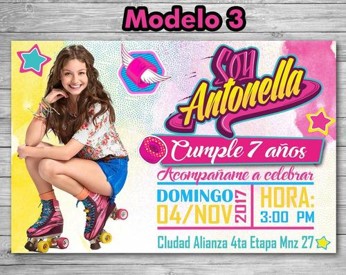 Invitación Tarjeta Digital Soy Luna Personalizada Imprimible
