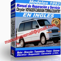 Manual de Reparacion Taller Caravan Voyager Town Country 1993