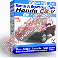 Manual de Reparacion Taller Honda Cr-v 2002 2003 2004 2005 2006